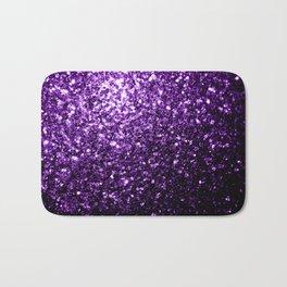 Beautiful Dark Purple glitter sparkles Bath Mat