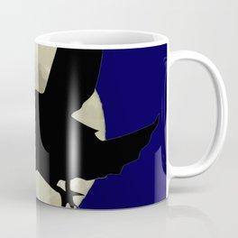 Raven Flying Across The Moon Coffee Mug