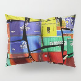 Colorful container wall board Pillow Sham