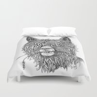 hollywood Duvet Covers featuring Hollywood Smile by Peerless Designs Art