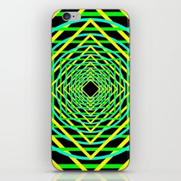 Diamonds in the Rounds Blacklight Neons Yellow Greens iPhone Skin