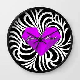 GEOMETRIC HEART® - Purple Special Edition -  Wall Clock