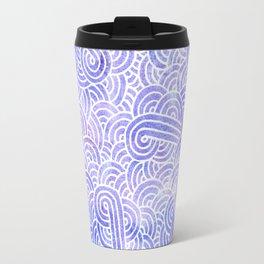 Lavender and white swirls doodles Travel Mug