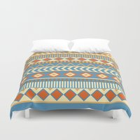 ethnic Duvet Covers featuring ethnic by Kozza