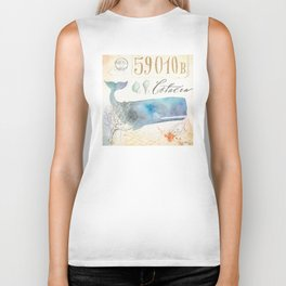 Watercolor Whale Biker Tank