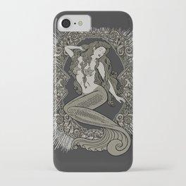 Neo Classic Mermaid Siren Sepia iPhone Case