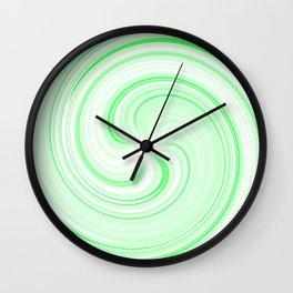 Lime Sundae Swirl Wall Clock