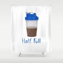 Half Full Shower Curtain