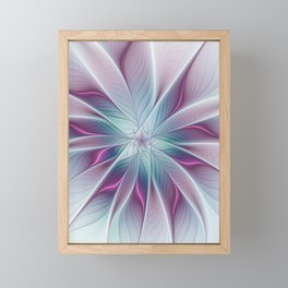 Floral and Luminous, abstract Fractal Art Framed Mini Art Print
