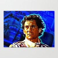 senna Canvas Prints featuring Ayrton Senna by TOROZON