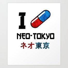I Love Neo-Tokyo Art Print