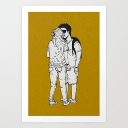 series-kiss Art Print