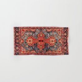 Kashan Poshti Central Persian Rug Print Hand & Bath Towel