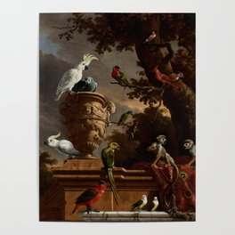 "Melchior d'Hondecoeter ""The Menagerie"" Poster"