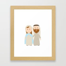 St. Joseph and Virgin Mary Framed Art Print