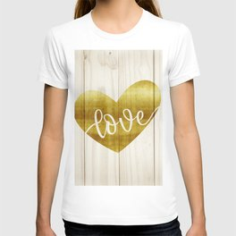 Gold love T-shirt