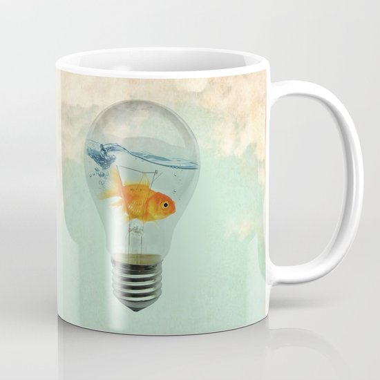 goldfish thinking Mug