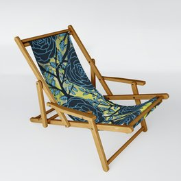Black and Blue Sling Chair