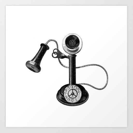 Old telephone Art Print