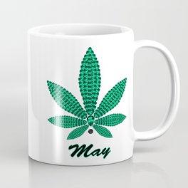 Birthstoned Leaf of Month, May Emerald Coffee Mug