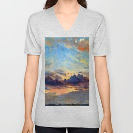 John Constable Cloud Study Unisex V-Neck