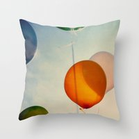happiness Throw Pillows featuring Happiness... by Alicia Bock