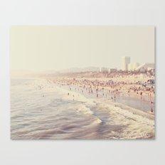 Sunny California. Santa Monica beach photograph Canvas Print