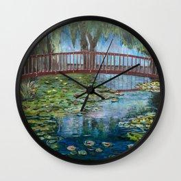 Lilly Pads at Lake Te Koutu - Monet Inspired Wall Clock