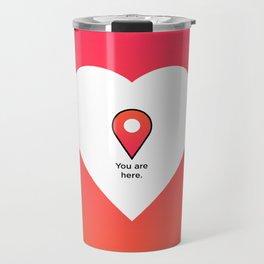 U are here Travel Mug