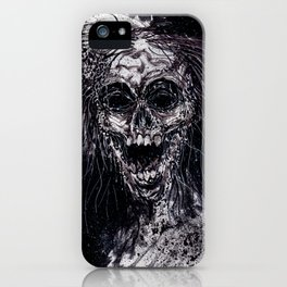 Dark Horror Zombie Black And White Art iPhone Case