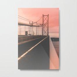 Blushing Bridge Metal Print