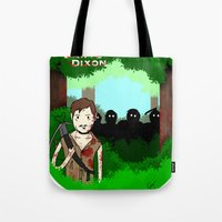 daryl dixon Tote Bags featuring Daryl Dixon by Dan Solo Galleries