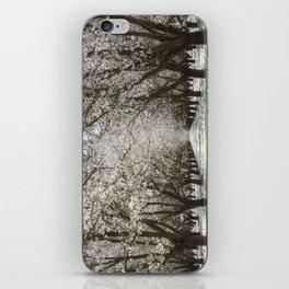 White Cherry Blossom Tree Tunnel iPhone Skin