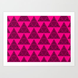 Sierpinski Pink Triangles Art Print