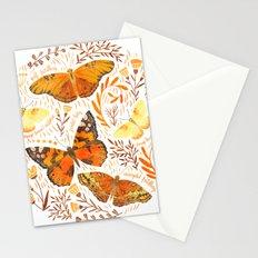 Orange Butterflies Stationery Cards