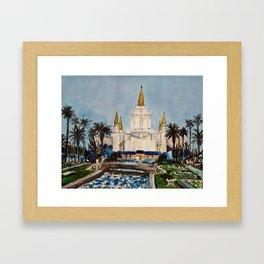 Oakland California LDS Temple Dusk Framed Art Print
