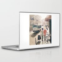enjolras Laptop & iPad Skins featuring Barricade Day by icarusdrunk