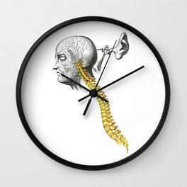 spinal column Wall Clock