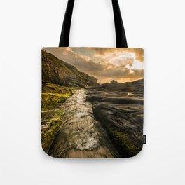 Trebarwith strand sunset Tote Bag