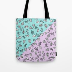 Burgers Pizza Fries in Pastel  Tote Bag
