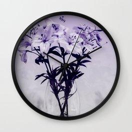 Lily Study 01 Wall Clock