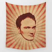 quentin tarantino Wall Tapestries featuring Tarantino by Durro