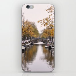Autumn on Amsterdam's canals iPhone Skin