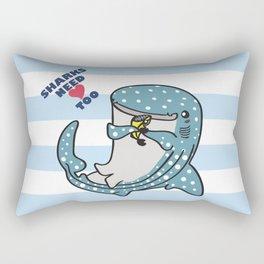 Sharks Need Love Too Rectangular Pillow