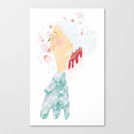 Bleeding Bun Canvas Print