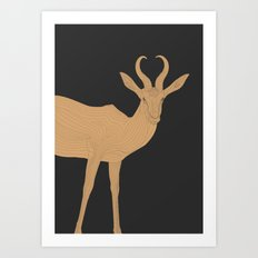 All lines lead to the...Inverted Springbok Art Print