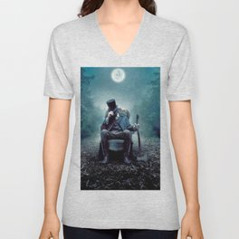 In to the dark Unisex V-Neck