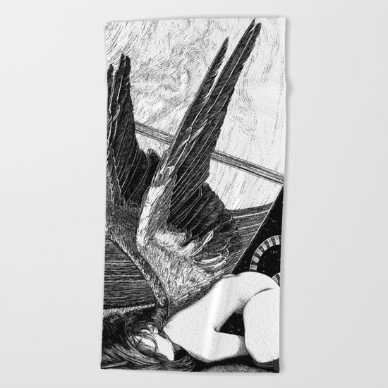 asc 638 - L'ange incarné (The earhtly angel) Beach Towel