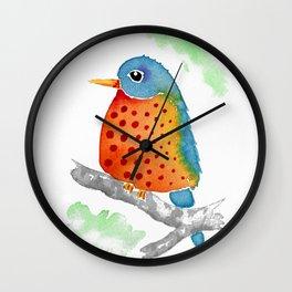 Polka Dot Bluebird Wall Clock