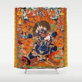 Buddhist Diety Mahakala 2 Shower Curtain